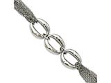 Chisel Stainless Steel Multiple Chain W/ovals 7.5in Bracelet style: SRB78275