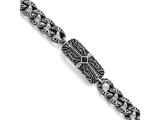 Chisel Stainless Steel Antiqued 9in Bracelet style: SRB8399
