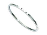 Chisel Stainless Steel Polished and CZ Bangle style: SRB848