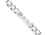 Chisel Stainless Steel Brushed and Polished Dad Bracelet style: SRB927875