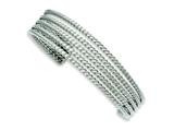 Chisel Stainless Steel Textured Cuff Bangle style: SRB975