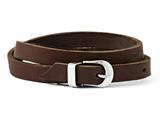 Chisel Stainless Steel Brown Leather Bracelet style: SRB98785
