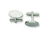 <b>Engravable</b> Chisel Stainless Steel Cuff Links style: SRC122