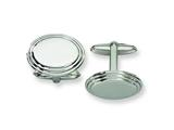 <b>Engravable</b> Chisel Stainless Steel Cuff Links style: SRC129