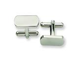<b>Engravable</b> Chisel Stainless Steel Cuff Links style: SRC137