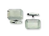 <b>Engravable</b> Chisel Stainless Steel Cuff Links style: SRC141