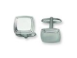 <b>Engravable</b> Chisel Stainless Steel Cuff Links style: SRC154