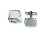<b>Engravable</b> Chisel Stainless Steel Cuff Links style: SRC155