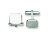 <b>Engravable</b> Chisel Stainless Steel Cuff Links style: SRC158