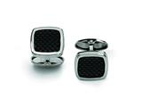 Chisel Stainless Steel Carbon Fiber Cuff Links style: SRC163