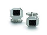 Chisel Stainless Steel Carbon Fiber Cuff Links style: SRC164