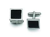 Chisel Stainless Steel Carbon Fiber Cuff Links style: SRC167