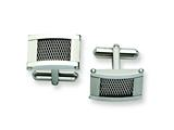 Chisel Stainless Steel Wire Brushed And Polished Cuff Links style: SRC179