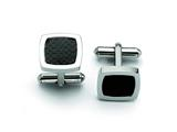 Chisel Stainless Steel Black Carbon Fiber Cuff Links style: SRC181