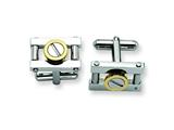 Chisel Stainless Steel Yellow Ip-plated Cuff Links style: SRC183