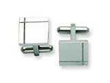 Chisel Stainless Steel Polished Cuff Links style: SRC186