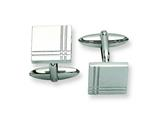 Chisel Stainless Steel Polished Cuff Links style: SRC187
