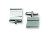 Chisel Stainless Steel Polished Cuff Links style: SRC188