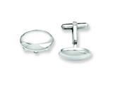 Chisel Stainless Steel Polished Oval Cuff Links style: SRC204