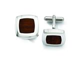 Chisel Stainless Steel Wood Inlay Cuff Links style: SRC206