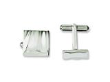 Chisel Stainless Steel Polished Concave Cuff Links style: SRC215