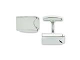 Chisel Stainless Steel Polished Cuff Links style: SRC216