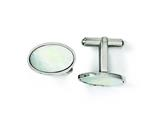Chisel Stainless Steel Mother Of Pearl Polished Cuff Links style: SRC230