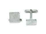Chisel Stainless Steel Polished and Textured Cuff Links style: SRC234