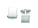 Chisel Stainless Steel Polished Cuff Links style: SRC256