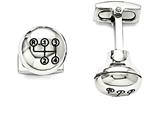 Chisel Stainless Steel Polished Stick Shift Design Enameled Cuff Links style: SRC281