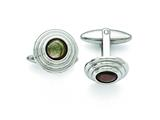 Chisel Stainless Steel Polished Black Mother Of Pearl Cuff Links style: SRC295