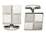 Chisel Stainless Steel Brushed And Polished Square Cuff Links style: SRC307
