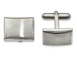Chisel Stainless Steel Polished And Brushed Cuff Links style: SRC308