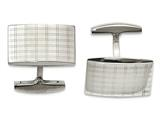 Chisel Stainless Steel Polished Laser Design Cuff Links style: SRC309