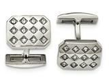 Chisel Stainless Steel Polished CZ Cuff Links style: SRC349