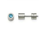 Chisel Stainless Steel CZ March Birthstone Polished Post Earrings style: SRE1000
