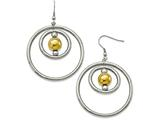 Chisel Stainless Steel Polished Yellow Ip-plated Shepherd Hook Earrings style: SRE1005