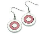 Chisel Stainless Steel Fancy Circle Dangle Earrings style: SRE100