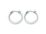 Chisel Stainless Steel 16mm Diameter Hoop Earrings style: SRE112