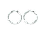 Chisel Stainless Steel 25mm Diameter Hoop Earrings style: SRE114