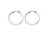 Chisel Stainless Steel 30mm Diameter Hoop Earrings style: SRE115