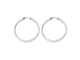 Chisel Stainless Steel 35mm Diameter Hoop Earrings style: SRE116