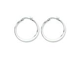 Chisel Stainless Steel 30mm Diameter Hoop Earrings style: SRE120