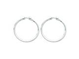 Chisel Stainless Steel 40mm Diameter Hoop Earrings style: SRE122