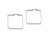 Chisel Stainless Steel 40mm Square Hoop Earrings style: SRE125