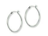 Chisel Stainless Steel 34mm Diameter Oval Hoop Earrings style: SRE128