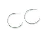 Chisel Stainless Steel 30mm Diameter J Hoop Post Earrings style: SRE131