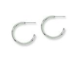 Chisel Stainless Steel 20mm Diameter J Hoop Post Earrings style: SRE134