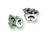 Chisel Stainless Steel CZ Earrings style: SRE149