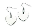Chisel Stainless Steel Polished Heart Dangle Earrings style: SRE239